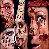 Tatuaggi Temporanei, 100+ Decoration Tatuaggi temporanei Halloween Zombie Scar Tatuaggi Adesivi Horror Realistico Impermeabile Speciale Cosplay Puntelli Tatuaggio Finto Vampiro Trucco del Corpo