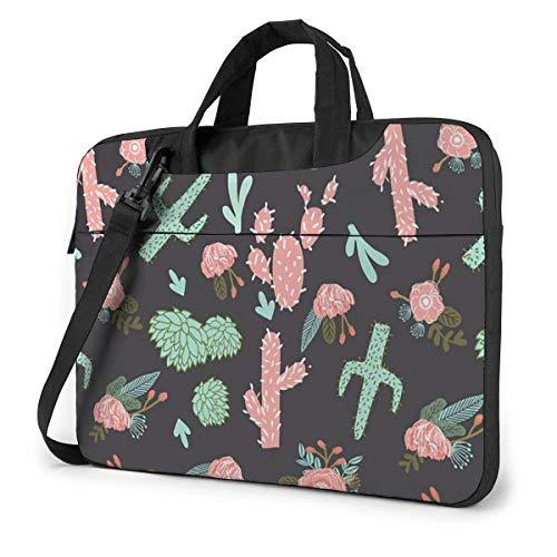 Cactus Floral Laptop Bag Compatible Ultrabook Bolso Que Lleva con Correa,