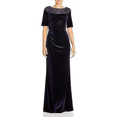 Adrianna Papell Velvet Beaded Gown