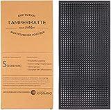 KYONANO Tampermatte, Tamping Matte aus Premium Silikon, Kaffee Tamper Matte Anti-Rutsch, Kaffee Stampfmatte Espresso Tampermatte für Siebträger, Tamper Ablage, 15x32cm(Schwarz)