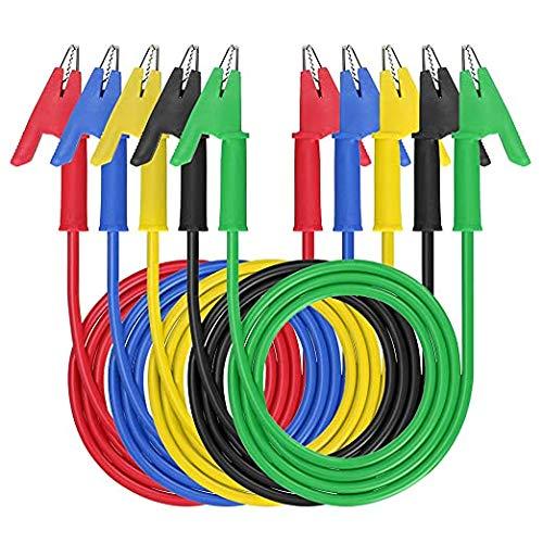 Sondas de Pinzas Cocodrilo,Pinzas de cocodrilo eléctricas con cables,pinzas de cocodrilo,5 colores,5...