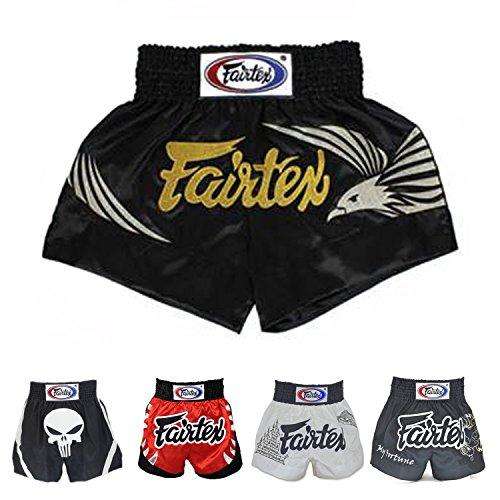 Fairtex Muay Thai Boxing Shorts Red Black White Size S M L...