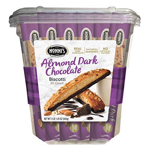 Almond Dark Chocolate Biscotti