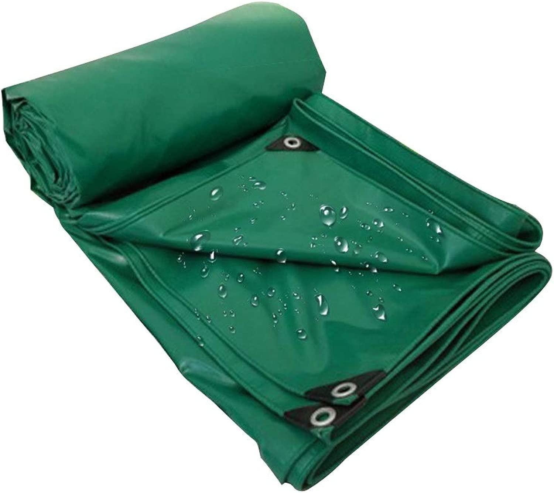 PENGFEI ターポリンタープ 屋外の 防水 工場 機械的 カバー 酸化防止 サイズカスタマイズ (Color : 緑, Size : 5.8X9.8m)