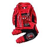 AsKong 3-teiliger Spider-Man-Anzug für Jungen, Sweatshirt, lange Hose, Reißverschlussweste,...