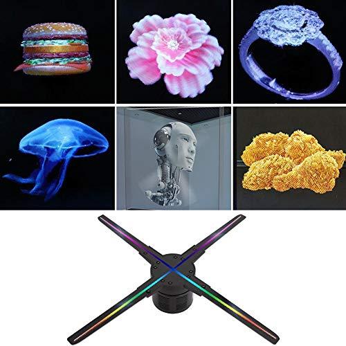 Tonysa 3D Hologramm Projektor, 512 LEDs Holographic Projektor Werbemaschine Fan, WiFi Tragbarer 3D Hologramm Advertisement Spieler mit 1600cd /m² Heilligkeit für Android(EU-Stecker)