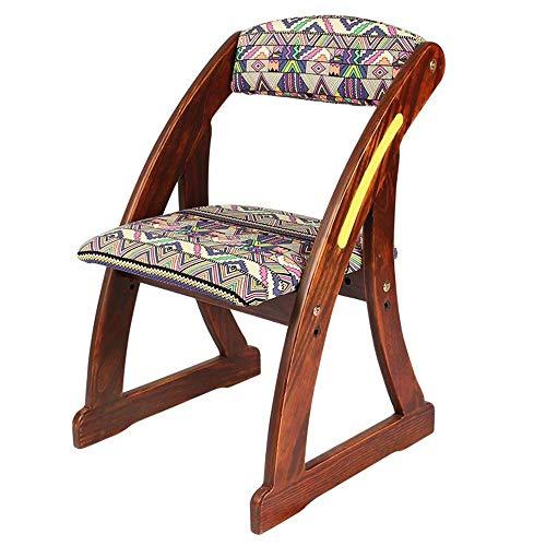 YUMEIGE Kruk Kinderstoel, Retro kleur, hout+katoenen stof, houten kruk voor Thuis/Kleuterschool, Kinderstoel, kleine bank, Kinderkruk belasting 100 kg, Meerdere patronen