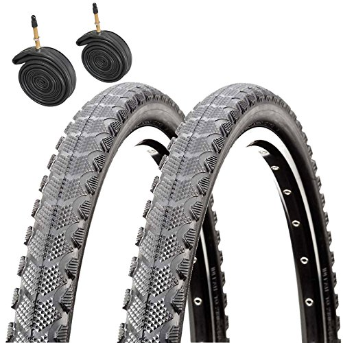 CST Raleigh T1811 Traveller 700 x 35c Hybrid Bike Tyres with Presta Tubes (Pair)