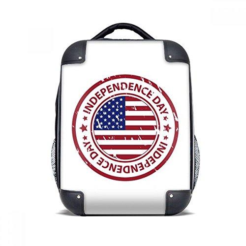 DIYthinker USA Independence Day Flag Red Stempel Hard Case Schulter Kind-Rucksack-Geschenk 15