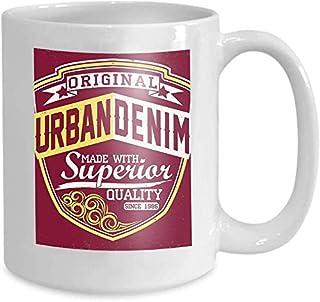 Tasse à café tasse à thé maison impression Design Vintage Denim typographie Grunge t Vintage Grunge oeuvre oeuvre timbre V...