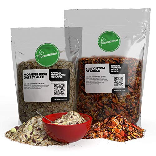 Design Your Own Custom Oatmeal, Cereal & Granola Blends with TrueNutrition   Billions of Combos: Choose Oats/Cereal/Granola + add Dried Fruits, Seeds, Nuts, Sweets, Multiple Flavor & Sweetener Options by True Nutrrition