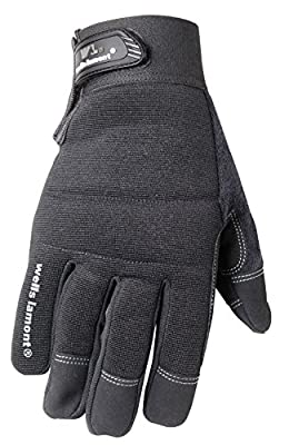 Wells Lamont Synthetic Leather Work Gloves with Touch Screen Capability, High Dexterity, Extra Large (7706XL)