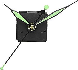 ROUHO 10 Unids 20Mm Longitud del Eje Verde Y Negro Las Manos Luminosas DIY Silencioso Reloj De Cuarzo Movimiento De Pared Mecanismo De Reemplazo