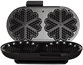 Wilfa Traditional Norwegian Waffle Maker WAD-619B (Black), 1700-Watts, Made in Norway. IMPORTANT: EUROPEAN POWER PLUG AND VOLTAGE. USE PLUG ADAPTER/VOLTAGE CONVERTER IF YOU ARE IN NORTH AMERICA