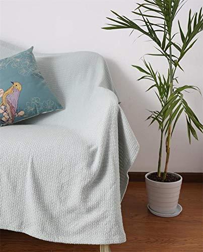 YHviking Algodón Funda de sofá,Nordic Manta de sofá,Ocio Manta,Aire Acondicionado Manta,Paño Color sólido Americana Funda Cubre sofá 1 Pieza-B 228x276cm(90x109inch)