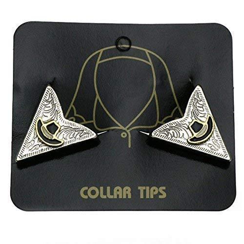 Collar Tips mit Cowboyhut, Kragenecken, Western