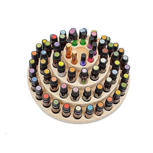 Aceites perfumados caso 61 Ranura de madera caja de almacenamiento de aceites esenciales Contiene 61 Aceites Botella titular caso óleo de madera for las mujeres Aceites esenciales Caja de almacenamien
