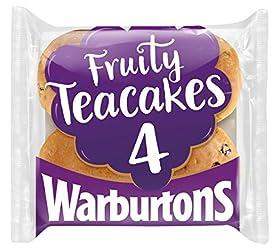 Warburtons 4 Fruited Teacakes