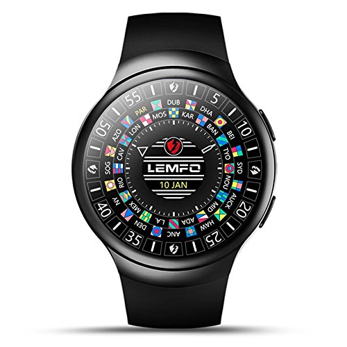 lemfo les2Android 5.1smart watch Heart Rate Monitor Google Map Watch Phone For Android iOS (Fast Shipping)