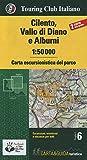 Cilento, Vallo di Diano e Alburni 1:50.000. Carta escursionistica del parco. Con Libro: Guida del pa...