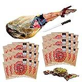 Jamón Serrano Gran Reserva, peso aprox 7,5-8Kg convertido en 30 sobres de jamón cortados tipo cuchillo. Incluye huesos y codillo. Salamanca. Pinante