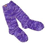 Guru-Shop Handgestrickte Schafwollsocken, Haussocken, Nepal Socken, Herren/Damen, Lila, Wolle, Size:M (39-41), Socken & Beinstulpen Alternative Bekleidung