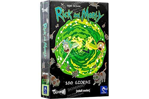 Asmodee- Rick & Morty, 100 Giorni-Gioco da Tavolo Pendragon Game Studio Edizione in Italiano, Colore, 580