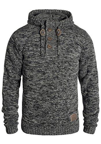 !Solid Philon Herren Winter Pullover Strickpullover Kapuzenpullover Grobstrick Pullover mit Kapuze, Größe:XXL, Farbe:Black (9000)