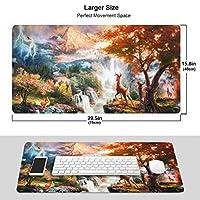 バンビ (2) おしゃれ 周辺機器 大型 3d柄プリント ゲーミング マウスパッド 人気 防水 滑り止め オフィス デスクマット キーボードパッド 水で洗える パソコン マウスパッド