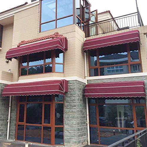 DNNAL Fenstermarkise Türdach, Faltbare dekorative Markise im Freien Sunshade Shelter für Haustür, Veranda, Fenster,100cm