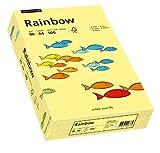Papyrus 88042297 Druckerpapier, farbiges Kopierpapier, Bastelpapier Rainbow 80 g/m², A4 500 Blatt, matt, hellgelb