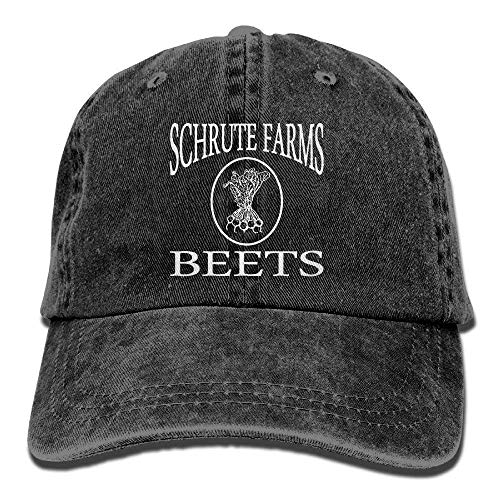 Unisex Baseball Cap Schrute Farms Beets Retro Washed Dyed Cotton Adjustable Denim Cap