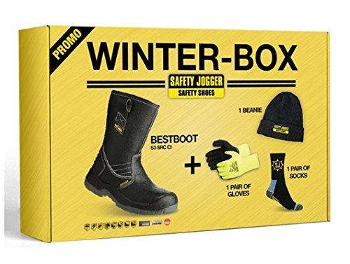 Sécurité Jogger Bestboot Hiver boîte gréeur inc des bottes, des gants, des chaussettes thermiques, chapeau