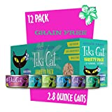 Tiki Cat Luau Grain-Free, Low-Carbohydrate Wet Food with Poultry or Fish in Consomme for Adult Cats & Kittens, 2.8oz, 12pk, Variety