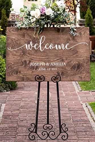 Personalized Wedding Welcome Sign - Wood Wedding Sign - Rustic Wedding Decor #PWS01