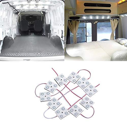 Innen Auto Beleuchtung Ihnenbeleuchtung 12V LED Streifenleuchten Innenraum Licht Fahrzeug Kuppel Deckenleuchten 40 LED Module Weiß 12V für Camper Van Caravan Truck Off Roader Schuppen LKW HGV