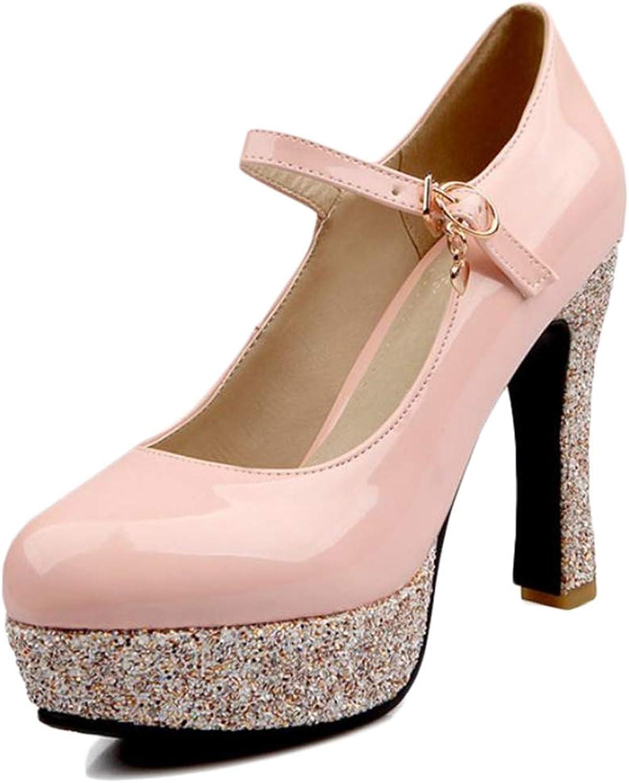 CUTEHEELS Women Marry Jane Pumps with High Heel Black
