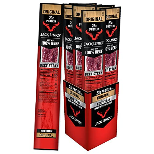 Jack Link's Premium Cuts Beef Steak, Original, Great Protein Snack with 23g of Protein and 2g of Carbs per Serving, Made with Premium Beef, 2 Ounce (Pack of 12)
