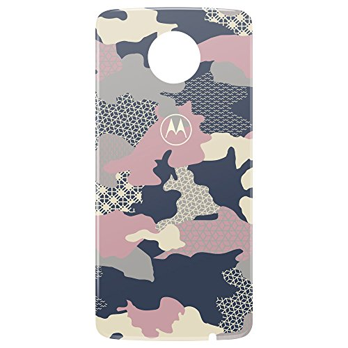 Motorola 11302N Cubierta Style Shell Intercambiable para Moto Z, Pink Camo
