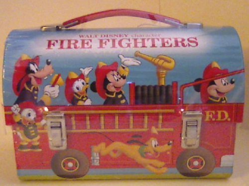 Hallmark School Days 2000 Walt Disney Character Fire Fighers Dommed Lunch Box with Coa and Limited Edition Number by Disney