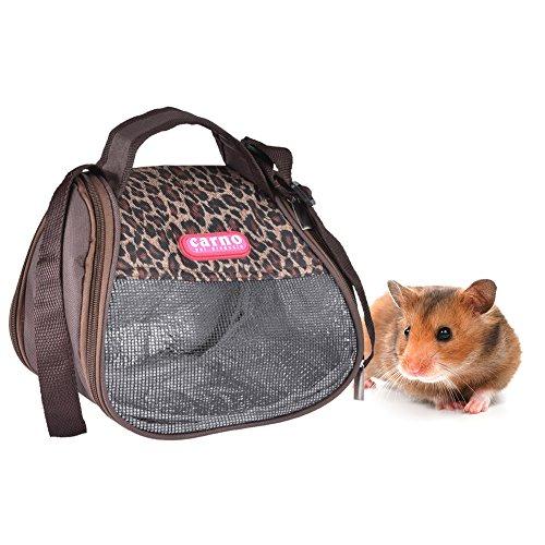 Yunt Bolsa de transporte para hámster, mochila para mascotas solo hombro, bolsa para el aire libre, bolso de mano para hámster sirio, pecera