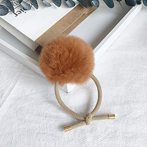 Boule de fourrure fait main Accessoire de cheveux Accessoire de cheveux, couleur caramel