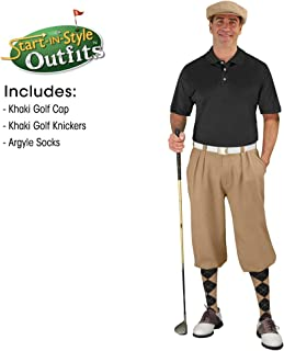 Golf Knickers Mens Start-in-Style Outfit - Khaki