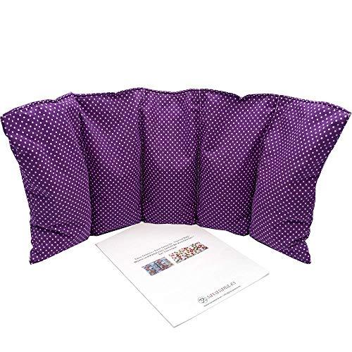 """Cuscino termico """"POIS - LILLA"""" - 50 x 20 cm (XL) - pieno di noccioli di ciliegia 800gr - effetto freddo/caldo . saco termiche"""