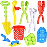 FUN LITTLE TOYS 11Pcs Snowball Maker Tools with Handle for Kids and Adults Snow Ball Fights, Fun Snowball Toys for Winter Outdoor Activities and More