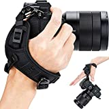JJC リストストラップ Nikon Z50 Fujifilm X100V X-Pro3 X-Pro2 X-T4 X-T3 X-T2 X-T30 X-T20 X100F Sony A7RIV A7RIII A7RII A7R A6600 A6400 A6100 A6000 カメラ 適用 ブラック