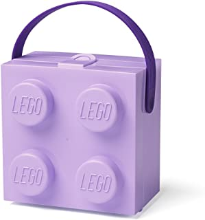 LEGO 40240004 Lunch Box with Handle, Lavender