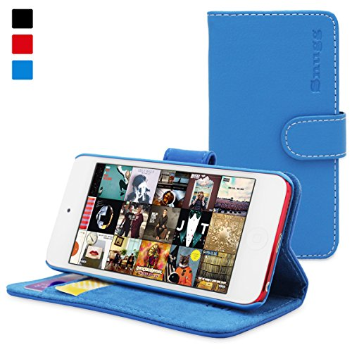 Snugg iPod Touch 5 / 6 / 7 Gen Flip Case amp Blue Leather for iPod Touch 5th / 6th / 7th Generation