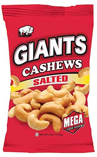 GIANTS Salted Cashews (6 - 4 oz. Bags)