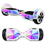 MightySkins Skin Compatible with Self Balancing Mini Scooter Hover Board - Rainbow Zoom | Protective, Durable, and Unique Vinyl Decal...